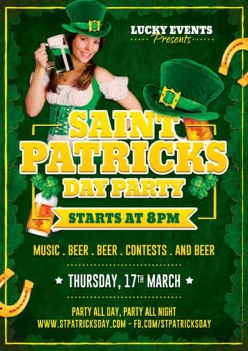 Free St. Patricks Day Party Flyer Template