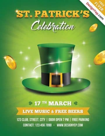Free St. Patricks Day PSD Flyer Template