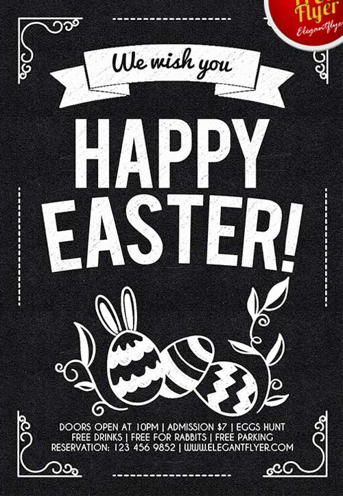 Happy Easter Free PSD Flyer Template