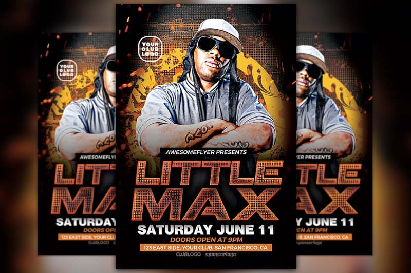 Hip Hop DJ Free Flyer Template
