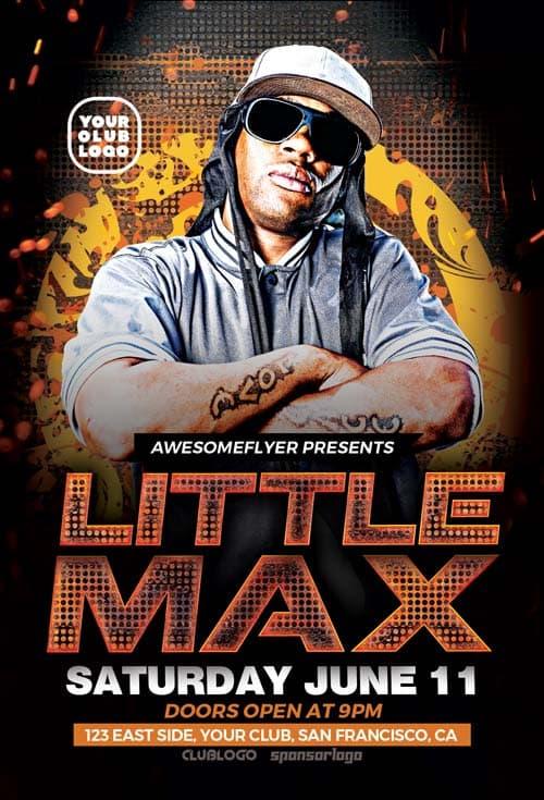 Download Hip Hop DJ Free Flyer Template