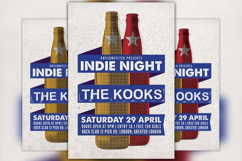 Indie Rock Free Flyer Template