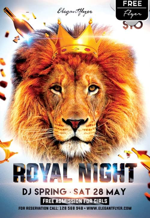 Royal Night Party Free PSD Flyer Template
