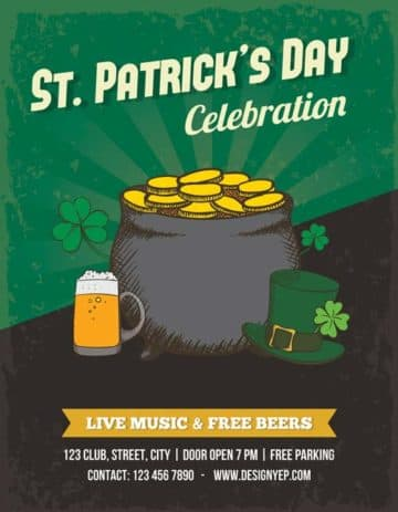 Free Saint Patricks Day PSD Flyer Template