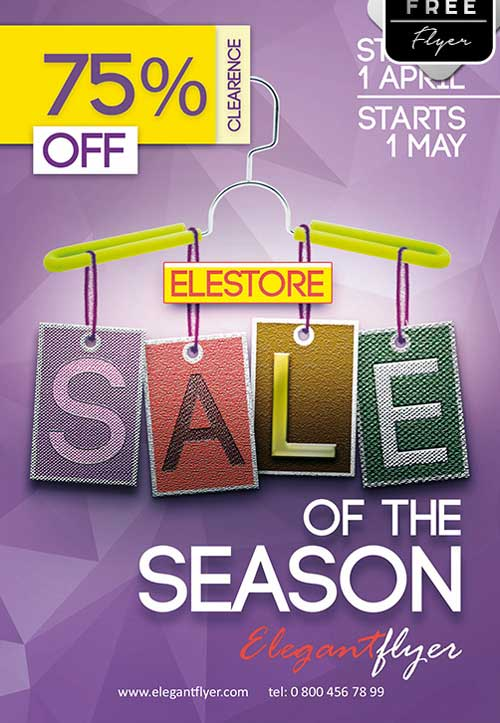 Sale of season Free PSD Flyer Template