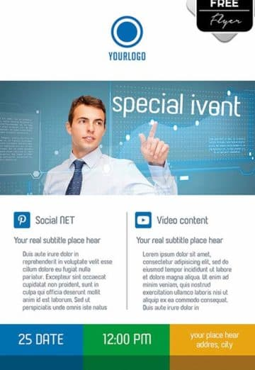 Corporate Event Free PSD Flyer Template