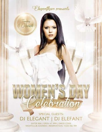 Womens Day Party Free PSD Flyer Template