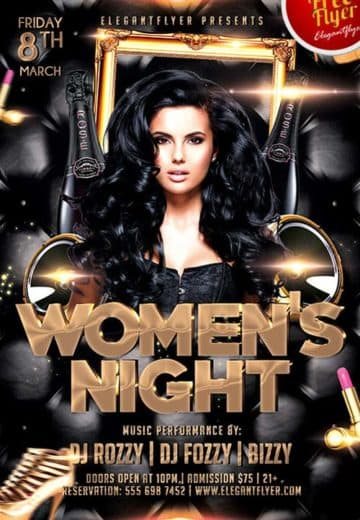 Women's Night Party Free PSD Flyer Template