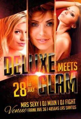 Deluxe Glam Night Free PSD Flyer Template