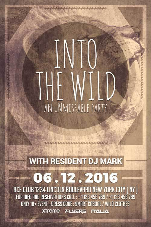 Wild Party Free PSD Flyer Template