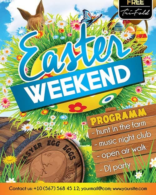 Download Easter Weekend Free Psd Flyer Template