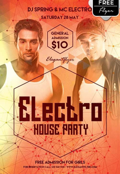Freepsdflyer Download Electro House Party Free Psd Flyer Template