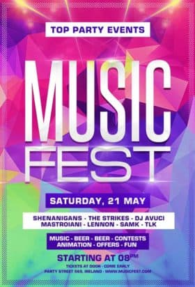 Music Festival Party Free Flyer Template