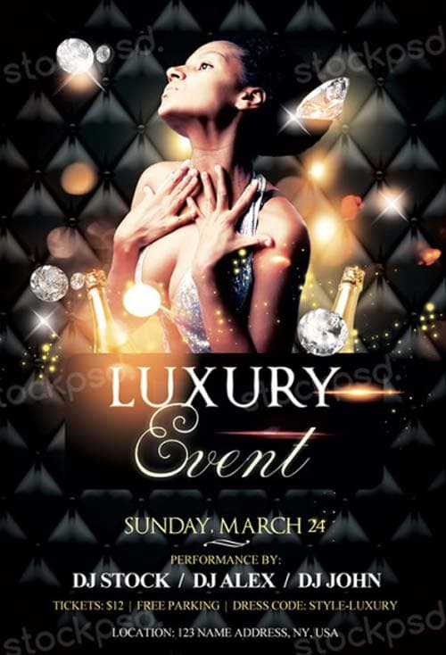 Luxury Event Free PSD Flyer Template