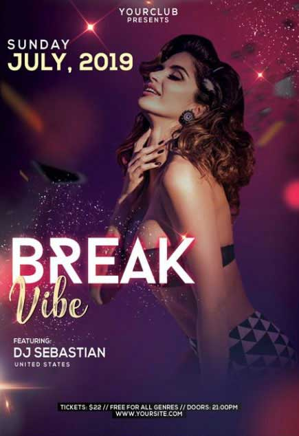 Spring Break Vibe Free PSD Flyer Template