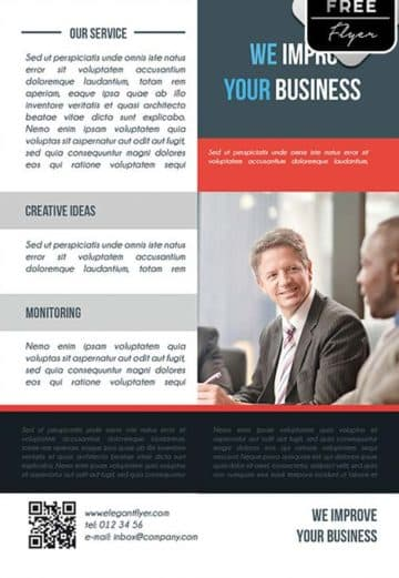 Business Promotion Free PSD Flyer Template