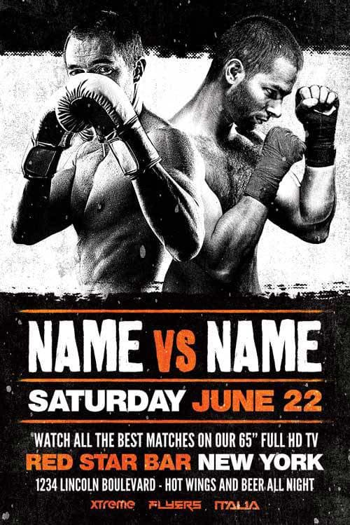 Freepsdflyer  Download Boxing Sports Event Free Flyer Template