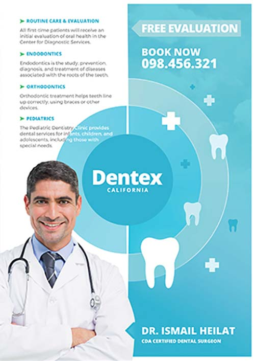 Dentex Free Dentist Flyer Template