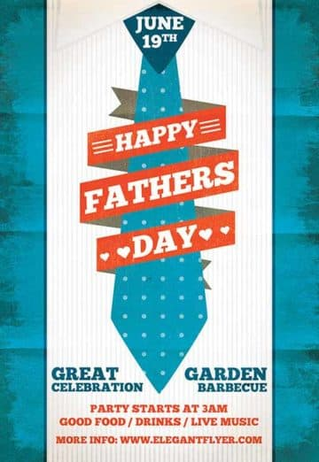 Fathers Day Free Flyer Template