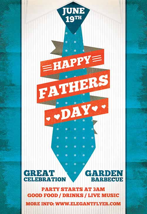 freepsdflyer download the fathers day free flyer template