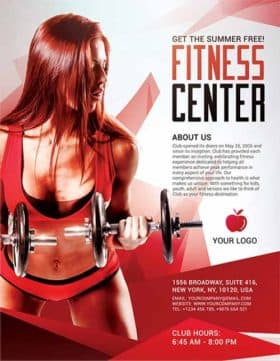 Fitness Center Sports Free Flyer Template