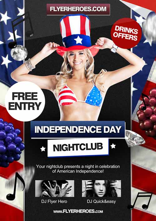 Freepsdflyer  Dowload The Th July Independence Day Free Flyer Template