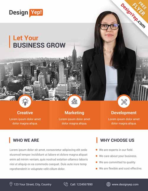 corporate business free flyer psd template