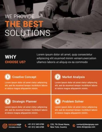 Corporate Agency Free PSD Flyer Template