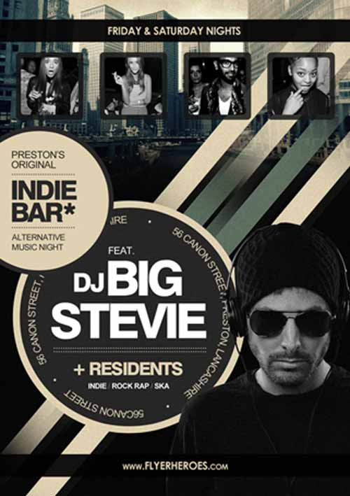 Freepsdflyer  Dowload The Indie Rock Bar Free Flyer Template