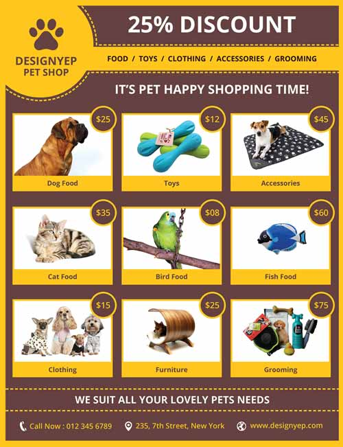 Freepsdflyer Download Pet Shop Free Psd Flyer Template For Photoshop