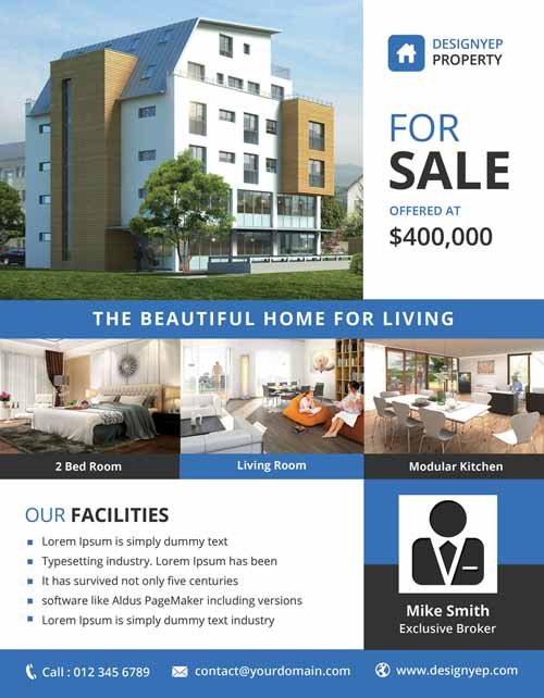 Download the best free real estate flyer templates for for House for sale brochure template