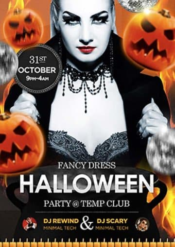 Halloween Party Night Free Flyer Template
