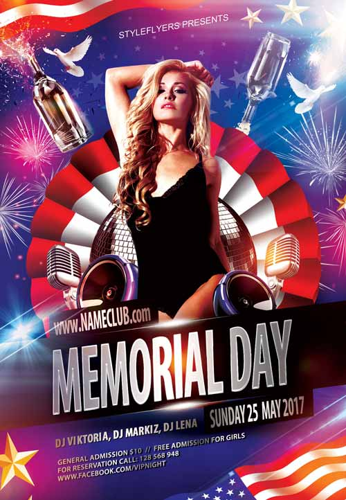 Download Free Memorial Day Flyer Psd Templates For Photoshop