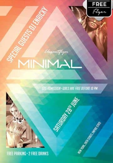 Minimal Party Free Flyer Template