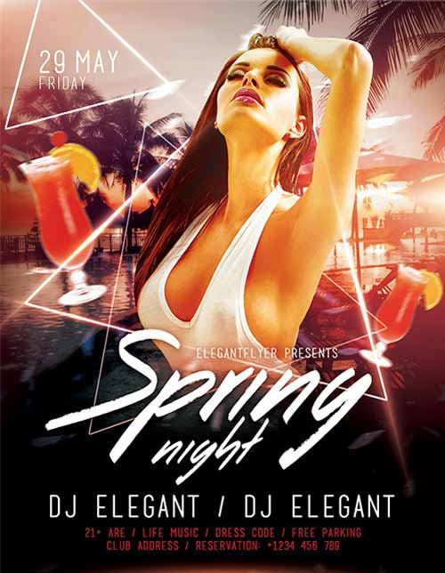 Download the Spring Night Free Flyer Template