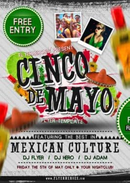 Cinco de Mayo Free PSD Flyer Template