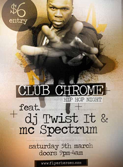 Dowload Chrome Hip Hop Free Flyer Template