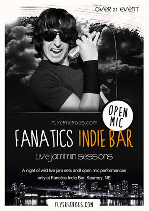Fanatics Free Indie Rock Bar Free Flyer Template