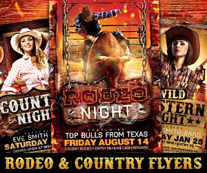 country rodeo flyer templates for photoshop