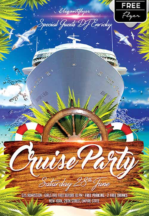 download the cruise party free flyer template