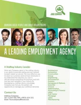 Employment Agency Free Flyer Template