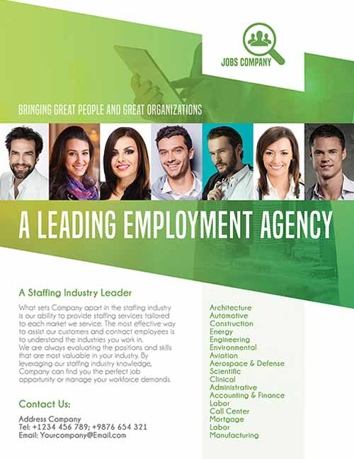 Freepsdflyer Employment Agency Free Flyer Template Download Psd