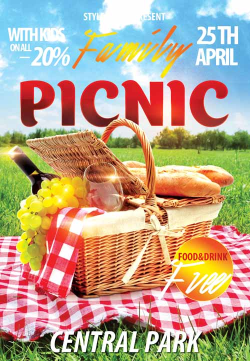 Freepsdflyer Download The Family Picnic Free Flyer