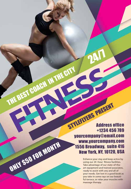 Fitness Gym Free Flyer Template  Fitness Templates Free