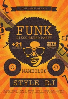 Funk Disco Retro Party Free Flyer Template