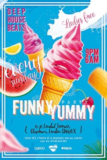 Funny Yummy Party Free Flyer Template