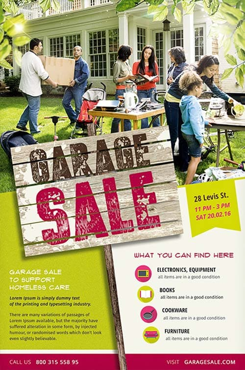 Garage Sale Free Flyer Template - Download Psd For Photoshop