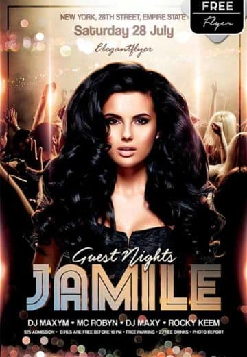 Guest Nights Free Flyer Template