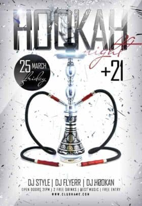 Hookah Night Free Flyer Template