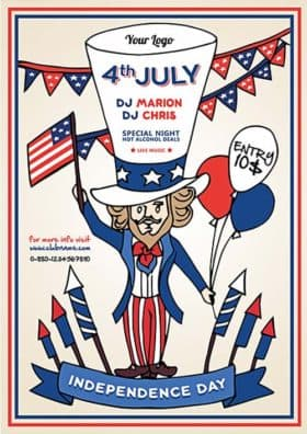Independence Day Party Free Flyer Template